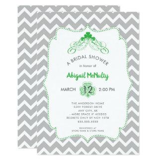 St Patrick's Day IRISH Shamrock Bridal Shower Card