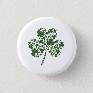 St Patrick's Day Irish Shamrock Clover 1 Inch Round Button