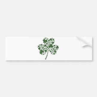 St Patrick's Day Irish Shamrock Clover Bumper Sticker