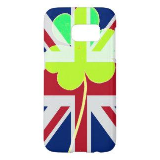 St. Patrick's Day Irish Shamrock Clover UK Flag Samsung Galaxy S7 Case