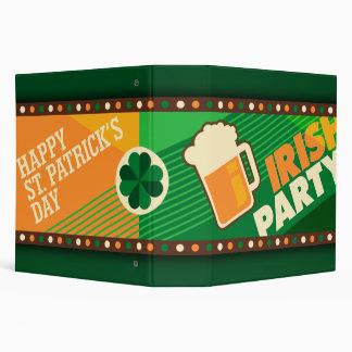 St Patrick's Day Irish Shamrock Party 3 Ring Binder