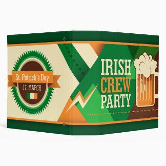 St Patrick's Day Irish Shamrock Party 3 Ring Binders