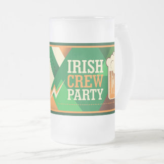 St Patrick's Day Irish Shamrock Party Frosted Glass Beer Mug