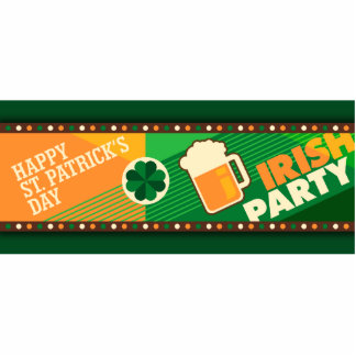 St Patrick's Day Irish Shamrock Party Photo Sculpture Magnet
