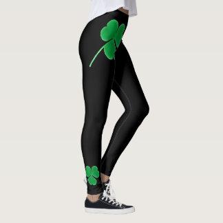St. Patrick's Day | Irish Shamrocks Green Clovers Leggings