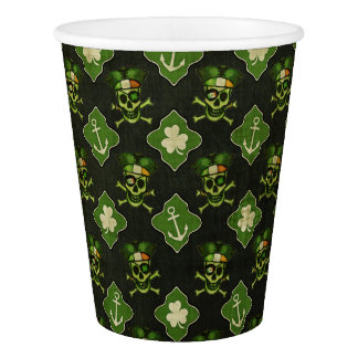 St. Patrick's Day Irish Skull Pattern Paper Cups Paper Cup