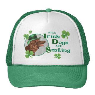 St. Patrick's Day Irish Water Spaniel Mesh Hats