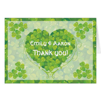 St. Patrick's Day Irish wedding Thank You Card