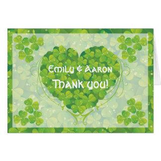 St. Patrick's Day Irish wedding Thank You Note Card