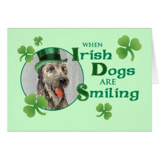 St. Patrick's Day Irish Wolfhound Card