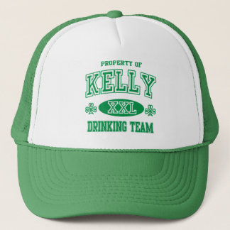St Patricks Day Kelly Irish Drinking Team Trucker Hat