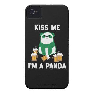 St Patrick's Day Kiss Me I'm a Panda iPhone 4 Case-Mate Case