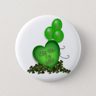 St Patricks Day Kiss me Im Irish Balloons 2 Inch Round Button