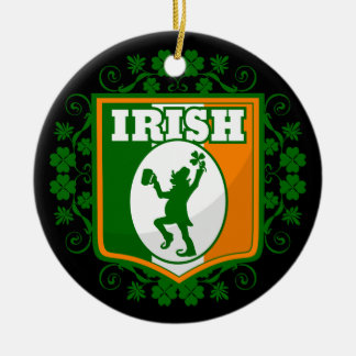 St Patrick's Day Leprechaun Ceramic Ornament