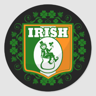 St Patricks Day Leprechaun Gold Classic Round Sticker