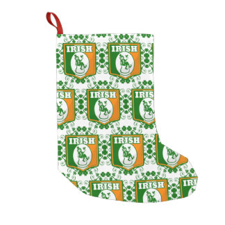 St Patricks Day Leprechaun Gold Small Christmas Stocking