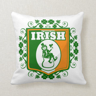 St Patricks Day Leprechaun Gold Throw Pillow