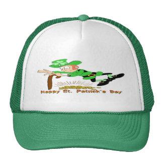 St Patrick's Day Leprechaun Gold Trucker Hat
