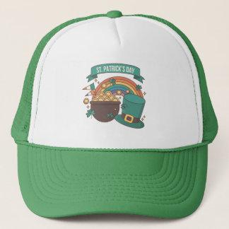 St. Patrick's Day. Leprechaun Hat Treasure Rainbow