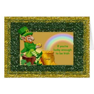 St. Patrick's Day Leprechaun Lucky Card