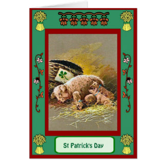 St Patrick's day, Litter of pigs Card