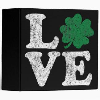 St Patrick's Day LOVE Shamrock Irish 3 Ring Binder