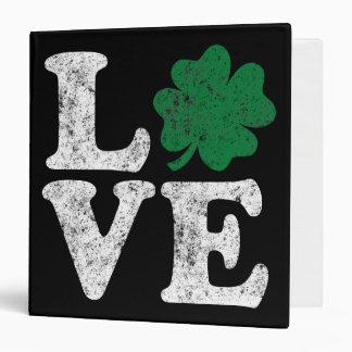 St Patrick's Day LOVE Shamrock Irish 3 Ring Binders