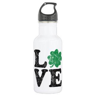 St Patrick's Day LOVE Shamrock Irish 532 Ml Water Bottle