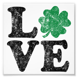 St Patrick's Day LOVE Shamrock Irish Art Photo