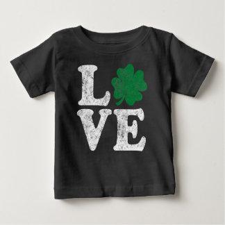 St Patrick's Day LOVE Shamrock Irish Baby T-Shirt