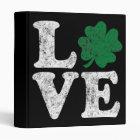 St Patrick's Day LOVE Shamrock Irish Binder