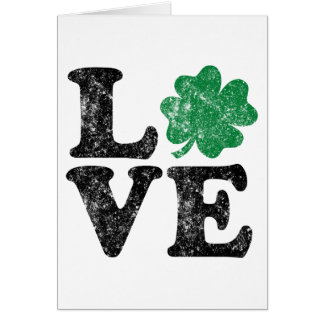 St Patrick's Day LOVE Shamrock Irish Card