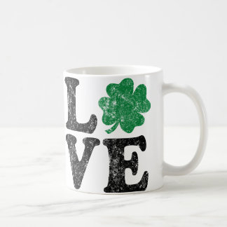 St Patrick's Day LOVE Shamrock Irish Coffee Mug