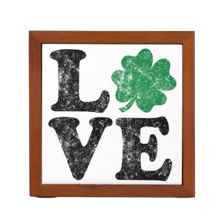 St Patrick's Day LOVE Shamrock Irish Desk Organizer