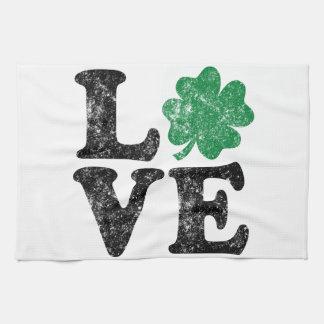 St Patrick's Day LOVE Shamrock Irish Kitchen Towel