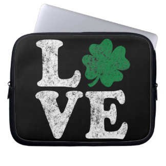 St Patrick's Day LOVE Shamrock Irish Laptop Sleeve