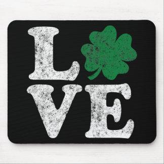 St Patrick's Day LOVE Shamrock Irish Mouse Pad