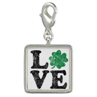 St Patrick's Day LOVE Shamrock Irish Photo Charms
