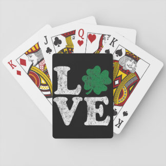 St Patrick's Day LOVE Shamrock Irish Playing Cards