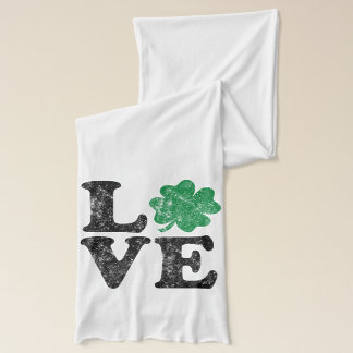 St Patrick's Day LOVE Shamrock Irish Scarf