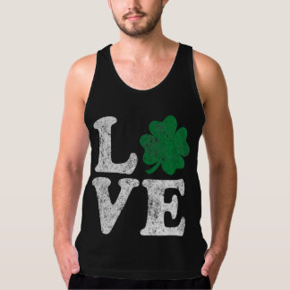 St Patrick's Day LOVE Shamrock Irish Tank Top