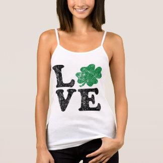St Patrick's Day LOVE Shamrock Irish Tank Top