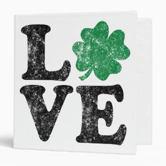 St Patrick's Day LOVE Shamrock Irish Vinyl Binder