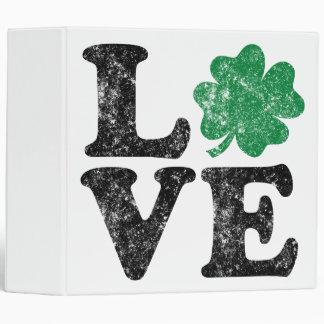 St Patrick's Day LOVE Shamrock Irish Vinyl Binders