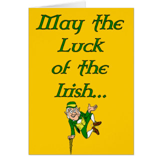 St. Patrick's Day Luck of the Irish Card
