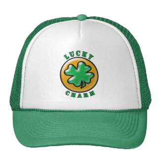St. Patrick's Day Lucky Charm 4 Leaf Clover Trucker Hat