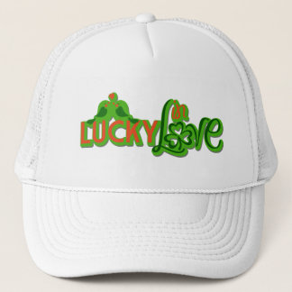 "St. Patrick's Day - ""Lucky in Love"" Trucker Hat"