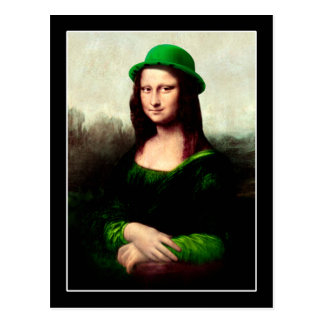 St Patrick's Day - Lucky Mona Lisa Postcard