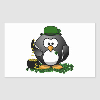 St. Patrick's Day Lucky Penguin with Pot Of Gold