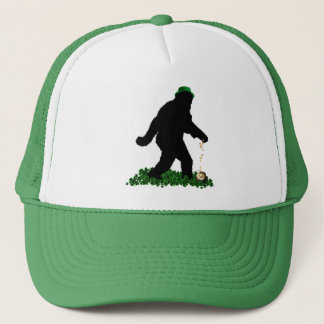 St Patrick's Day Lucky Sasquatch Trucker Hat